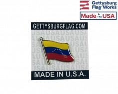 Venezuela  Lapel Pin (Single Waving Flag)