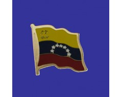 Venezuela (seal design) Lapel Pin (Single Waving Flag)