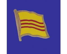 South Vietnam Lapel Pin (Single Waving Flag)