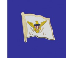 Virgin Islands Lapel Pin (Single Waving Flag)