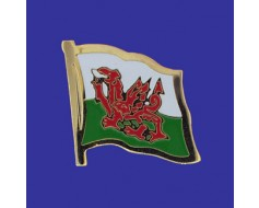 Wales Lapel Pin (Single Waving Flag)