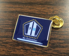 9/11 We Remember Lapel Pin (Single Rectangle Flag)