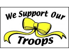 We Support Our Troops Flag - 3x5'