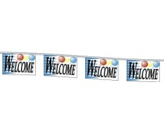 Welcome Rectangle Pennants