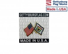 West Virginia State Flag Lapel Pin (Double Waving Flag w/...