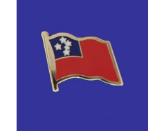 Western Samoa Lapel Pin (Single Waving Flag)