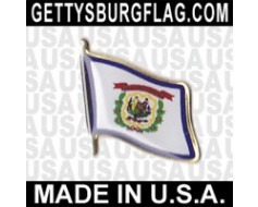 West Virginia State Flag Lapel Pin