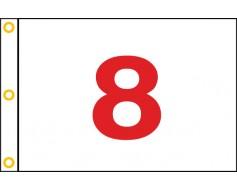"""Golf Flag (Red on White) - 14x20"""""""