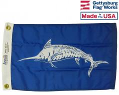 """White Marlin Flag - 12x18"""""""