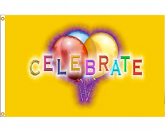 Celebrate Flag - 3x5'