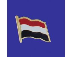 Yemen Lapel Pin (Single Waving Flag)