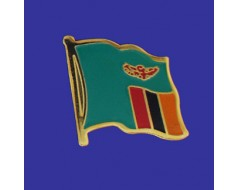 Zambia Lapel Pin (Single Waving Flag)