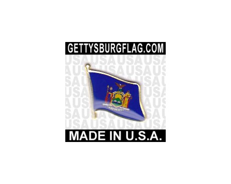 New York State Flag Lapel Pin (Single Waving Flag)