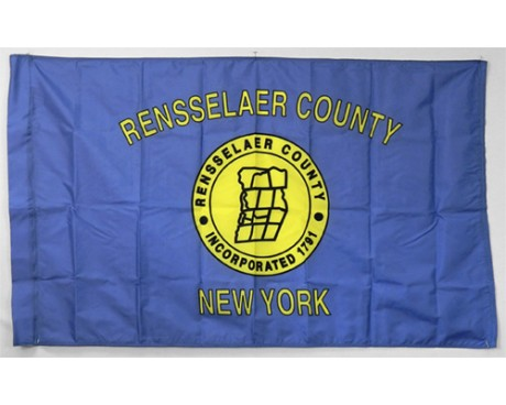 """County Of Rensselaer Flag, 3"""" Pole Sleeve with Tab - 3x5'"""