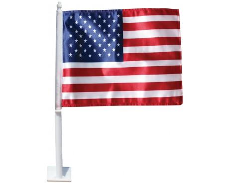 American Car Window Flag