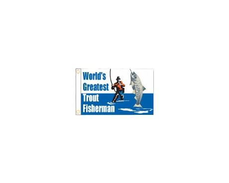 "Trout Fisherman Flag - 12x18"""