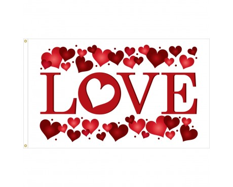 Valentine's Day Flag - 3x5'