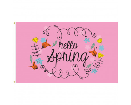 Hello Spring Flag - 3x5'