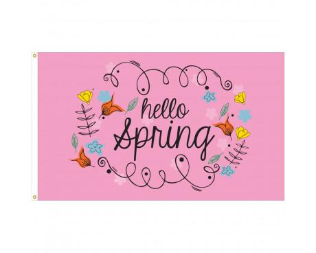 Hello Spring Flag - 3x5'