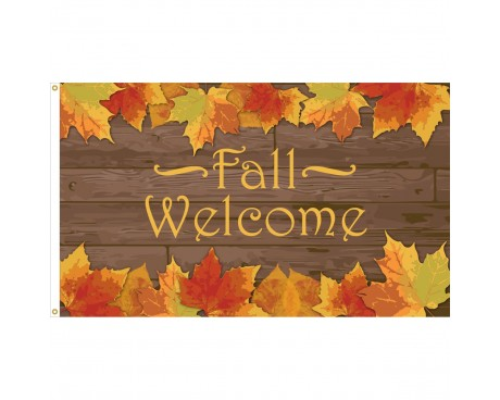Fall Welcome Flag