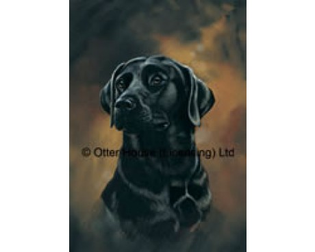 Black Labrador Flag (Painting)