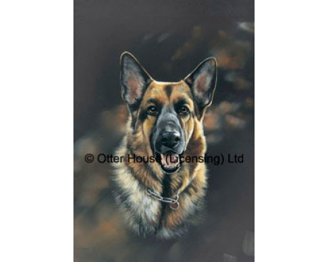 German Shepherd Flag (Painting)