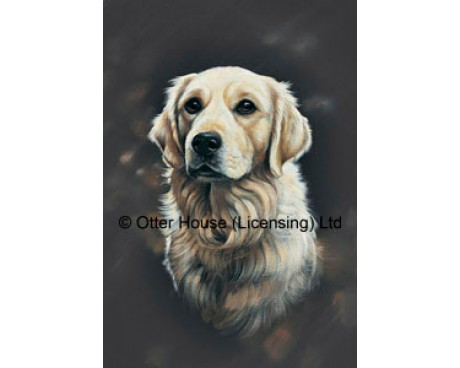 Golden Retriever Flag (Painting)