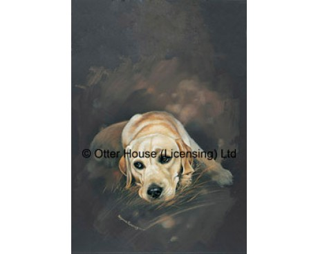 Yellow Labrador Flag (Painting)