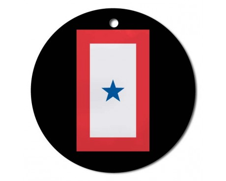 "Christmas Ornament Service Star "" 1 Blue"