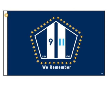 "NYS 911 ""We Remember"" Motorcycle Flag"