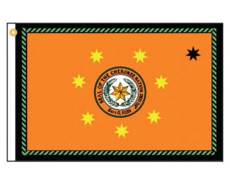 Cherokee Motorcycle Flag