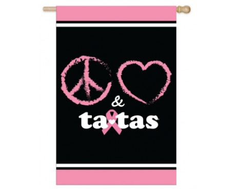 Peace Love & Tatas Flag