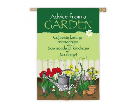 Advice From A Garden Flag