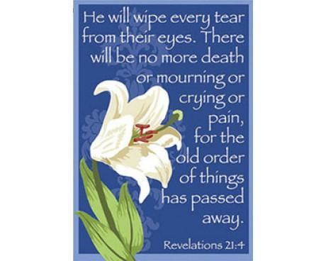 He Will Wipe Every Tear Garden Flag