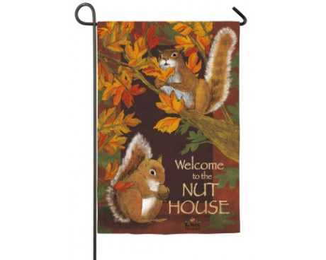 All Nuts Here Garden Flag