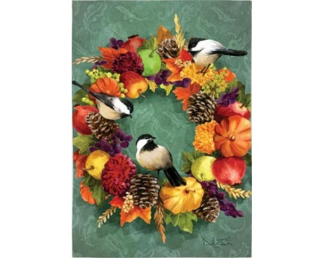 Fall Floral Wreath House Banner