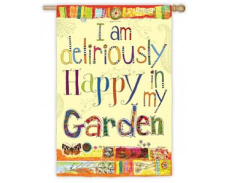 Deliriously Happy Garden Flag