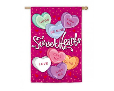 Sweethearts Garden Flag