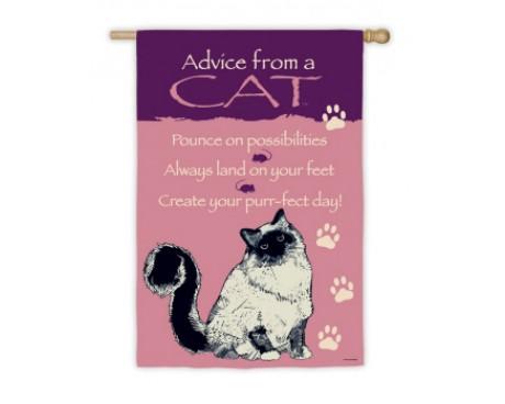 Advice From A Cat Garden Flag