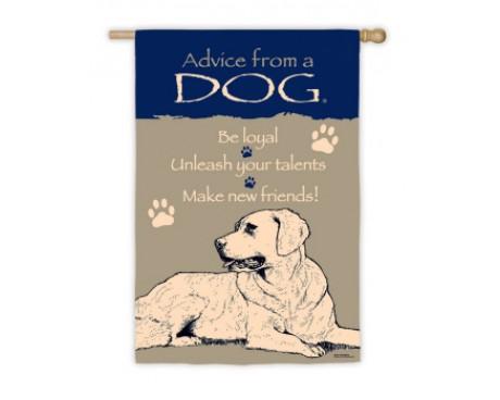 Advice From A Dog Garden Flag