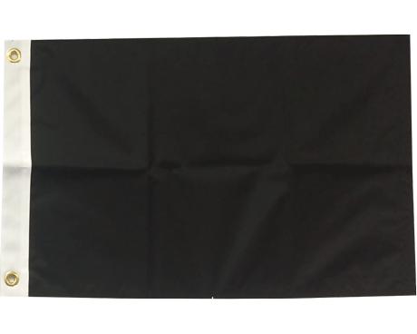 BLANK NYLON GOLF FLAG, Black