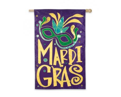Mardi Gras Masque Flag