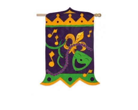 Mardi Gras Magnificence Flag
