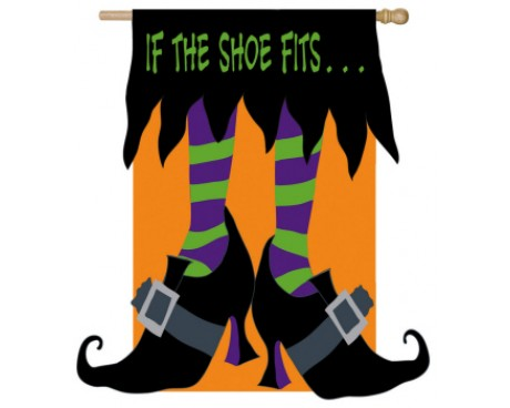 If The Witch Shoe Fits Garden Flag