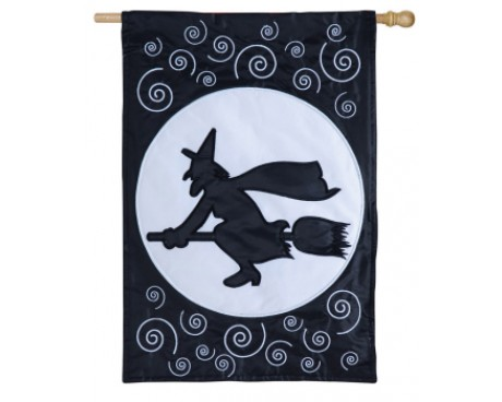 Here Comes The Witch Garden Flag