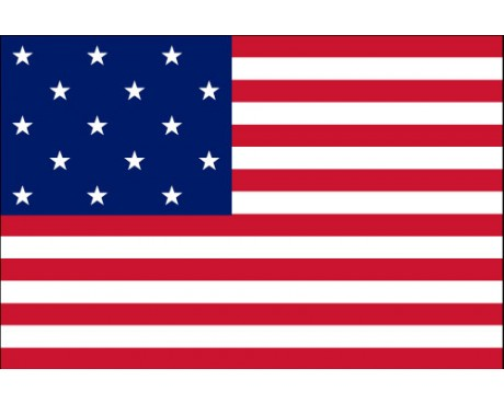 American, 15 Stars & Stripes Flag