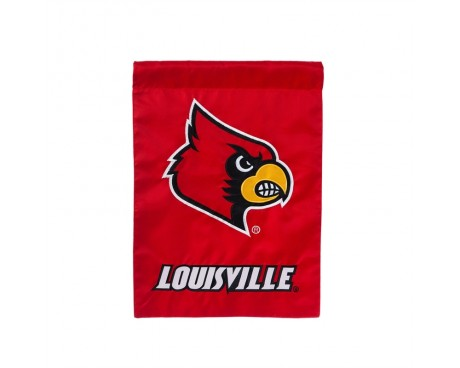 "Louisville Cardinals Garden Flag - 12X18"" -CHOOSE OPTIONS"