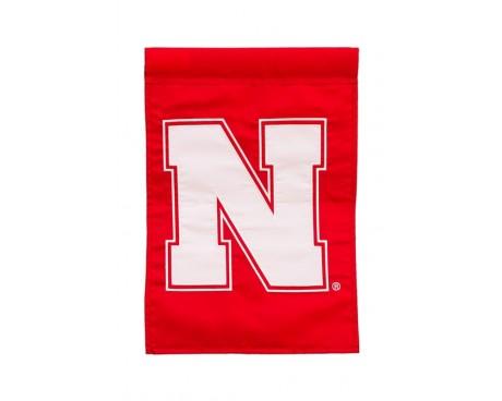 "Nebraska Cornhuskers Garden Flag - 12X18"" -CHOOSE OPTIONS"