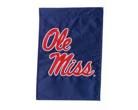 "Ole Miss Garden Flag - 12X18"" -CHOOSE OPTIONS"