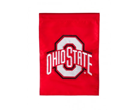 "Ohio State Buckeyes Garden Flag - 12X18"" -CHOOSE OPTIONS"